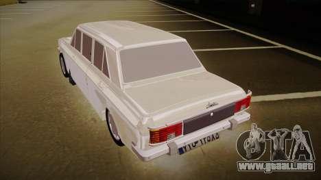 Paykan Limousine para GTA San Andreas vista hacia atrás