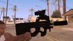 P90 AEG con linterna para GTA San Andreas