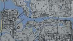 Mapa al estilo de GTA 5 para GTA San Andreas