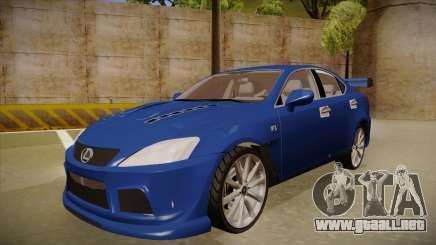 Lexus IS F V1 para GTA San Andreas