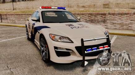 Mazda RX-8 R3 2011 la Policía купе para GTA 4