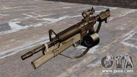 Automático carabina M4 C-Mag para GTA 4