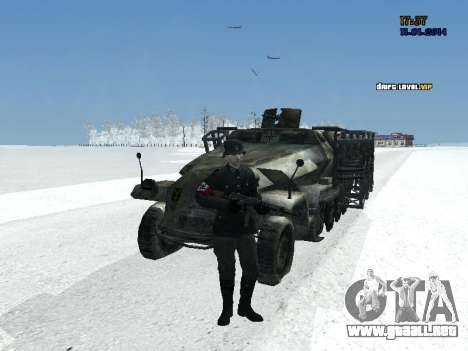 SdKfz 251 para GTA San Andreas vista hacia atrás