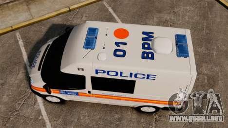 Ford Transit 2013 Police [ELS] para GTA 4 visión correcta