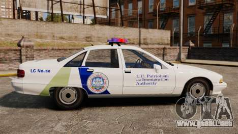 Chevrolet Caprice Police 1991 v2.0 N.o.o.s.e para GTA 4 left