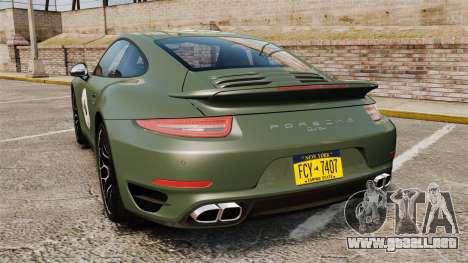 Porsche 911 Turbo 2014 [EPM] Ghosts para GTA 4 Vista posterior izquierda