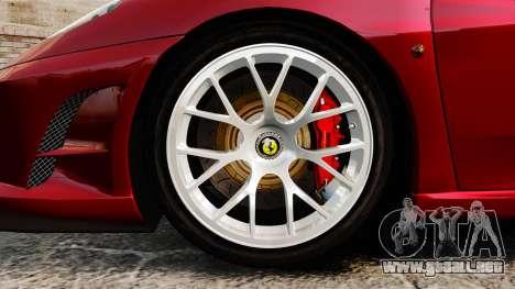 Ferrari F430 Scuderia 2007 para GTA 4 vista hacia atrás