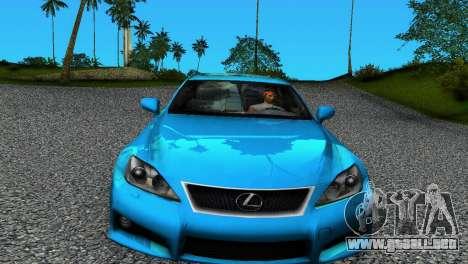 Lexus IS-F para GTA Vice City left
