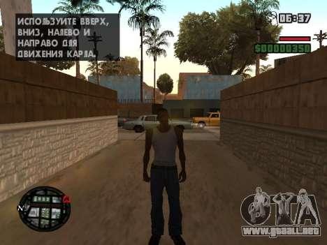 Nueva campana e iconos en el mapa para GTA San Andreas quinta pantalla
