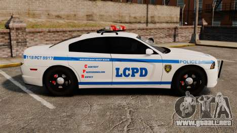 Dodge Charger 2012 LCPD [ELS] para GTA 4 left