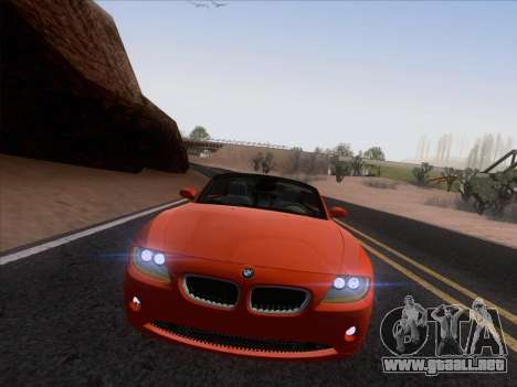 BMW Z4 Edit para GTA San Andreas vista hacia atrás