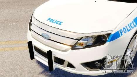 Ford Fusion LCPD 2011 [ELS] para GTA 4 vista hacia atrás