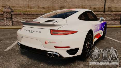Porsche 911 Turbo 2014 [EPM] America para GTA 4 Vista posterior izquierda