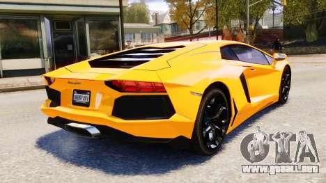 Lamborghini Aventador LP700-4 [EPM] 2012 para GTA 4 vista superior