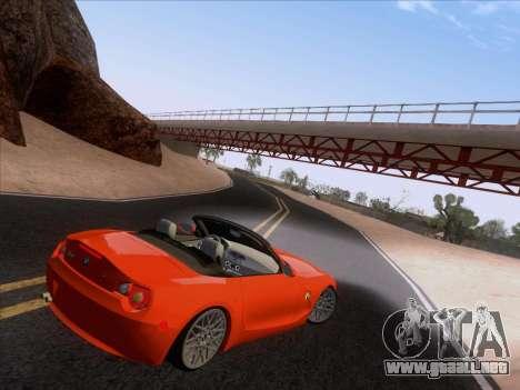 BMW Z4 Edit para GTA San Andreas vista posterior izquierda