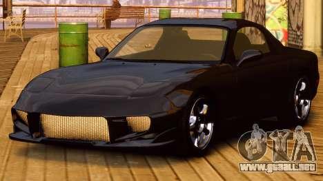 Mazda RX-7 FD 1999 para GTA 4 Vista posterior izquierda