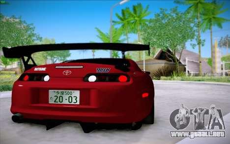 Toyota Supra RZ 1998 Drift para la visión correcta GTA San Andreas