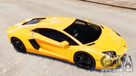 Lamborghini Aventador LP700-4 [EPM] 2012 para GTA 4 vista desde abajo