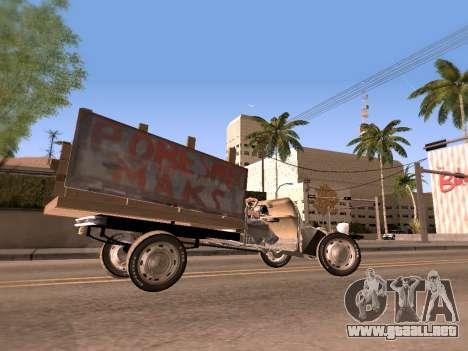 Citroen 2CV (Diana) para GTA San Andreas vista posterior izquierda