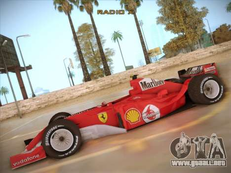 Ferrari F1 2005 para GTA San Andreas left