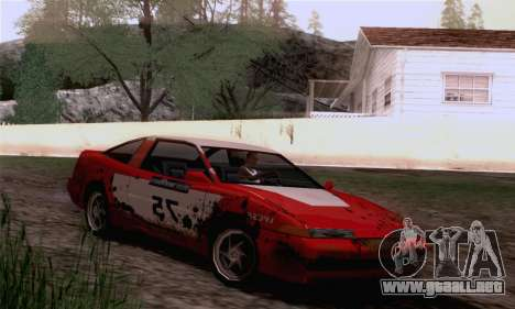Uranus Rally Edition para GTA San Andreas vista posterior izquierda