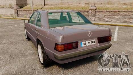 Mercedes-Benz E190 W201 para GTA 4 Vista posterior izquierda