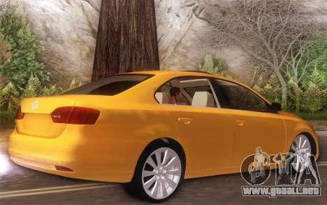 Volkswagen Vento 2012 para GTA San Andreas vista posterior izquierda