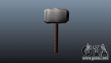 El martillo de Thor para GTA 4 segundos de pantalla