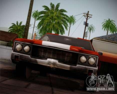 Sabre Turbo para vista lateral GTA San Andreas