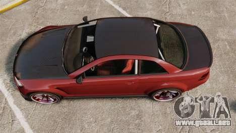 GTA V Sentinel XS Street Tuned Edit para GTA 4 visión correcta