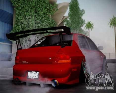 Mitsubishi Evolution VIII para la visión correcta GTA San Andreas