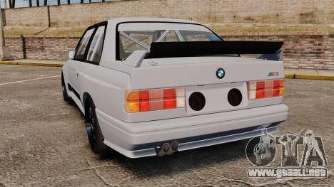 BMW M3 1990 Race version para GTA 4 Vista posterior izquierda