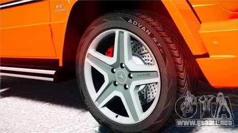 Mercedes-Benz G65 AMG 2013 para GTA 4 vista hacia atrás