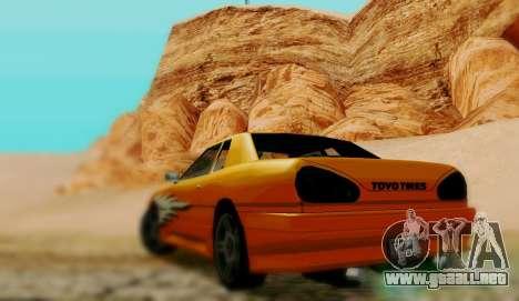 El trabajo de pintura para Elegy para GTA San Andreas vista posterior izquierda