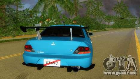 Mitsubishi Lancer Evolution VIII Type 8 para GTA Vice City vista lateral izquierdo