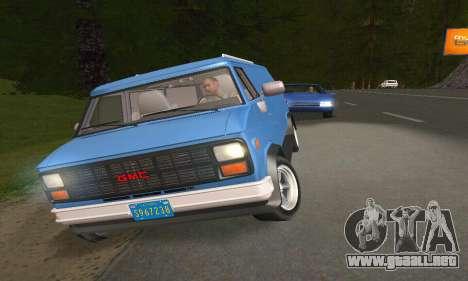 GMC Vandura G-15 1983 Stock para GTA San Andreas left