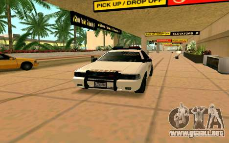 GTA V Sheriff Cruiser para GTA San Andreas vista posterior izquierda