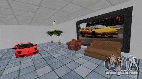 Salón del automóvil de Lamborghini para GTA 4 sexto de pantalla