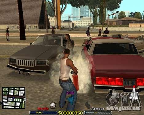 C-HUD by qrt para GTA San Andreas segunda pantalla