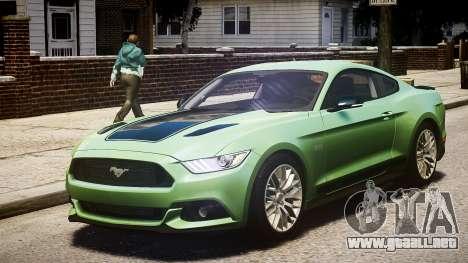 Ford Mustang GT 2015 para GTA 4