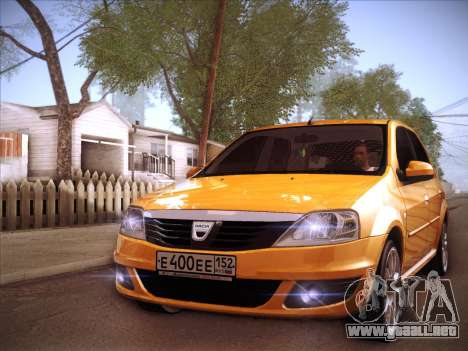 Dacia Logan GrayEdit para vista lateral GTA San Andreas