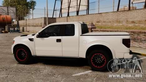 Ford SVT Raptor 2012 para GTA 4 left