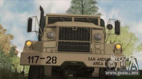 AM General M35A2 1950 para visión interna GTA San Andreas