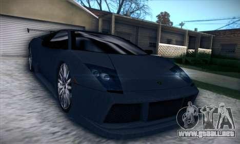 Lamborghini Murcielago GT Carbone para visión interna GTA San Andreas