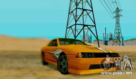 El trabajo de pintura para Elegy para GTA San Andreas left