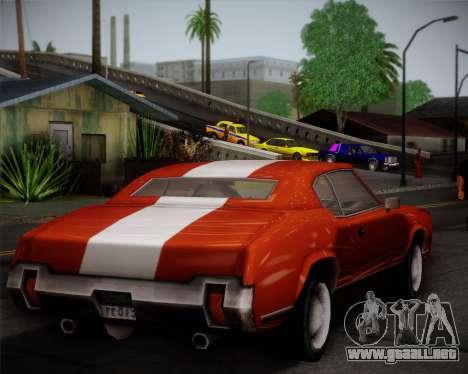 Sabre Turbo para visión interna GTA San Andreas