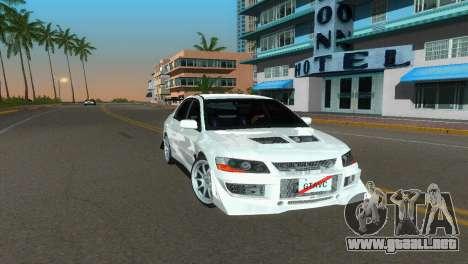 Mitsubishi Lancer Evolution VIII Type 8 para GTA Vice City visión correcta