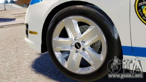 Ford Fusion LCPD 2011 [ELS] para GTA 4 vista interior