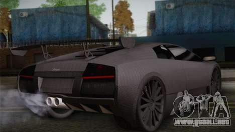 Lamborghini Murcielago GT Carbone para GTA San Andreas left