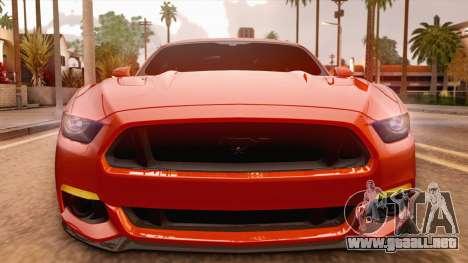 Ford Mustang GT 2015 para la visión correcta GTA San Andreas